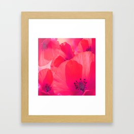 Red Poppies #decor #society6 #buyart Framed Art Print