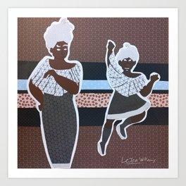 Espresso Girls Art Print