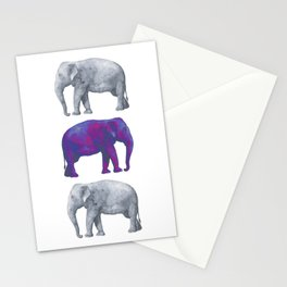 Elephants II Stationery Cards