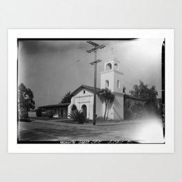 Mission Santa Cruz Art Print