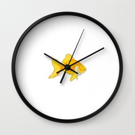 Goldie Gold Wall Clock