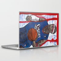 nba Laptop & iPad Skins featuring NBA PLAYERS - Allen Iverson by Ibbanez