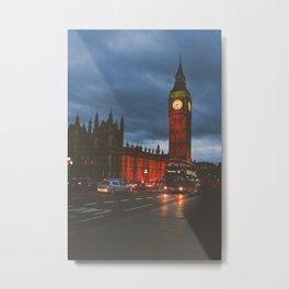 London at Night Metal Print