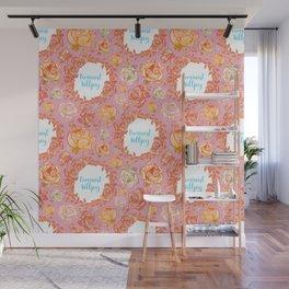 Cute Feminist Killjoy Floral Print Wall Mural
