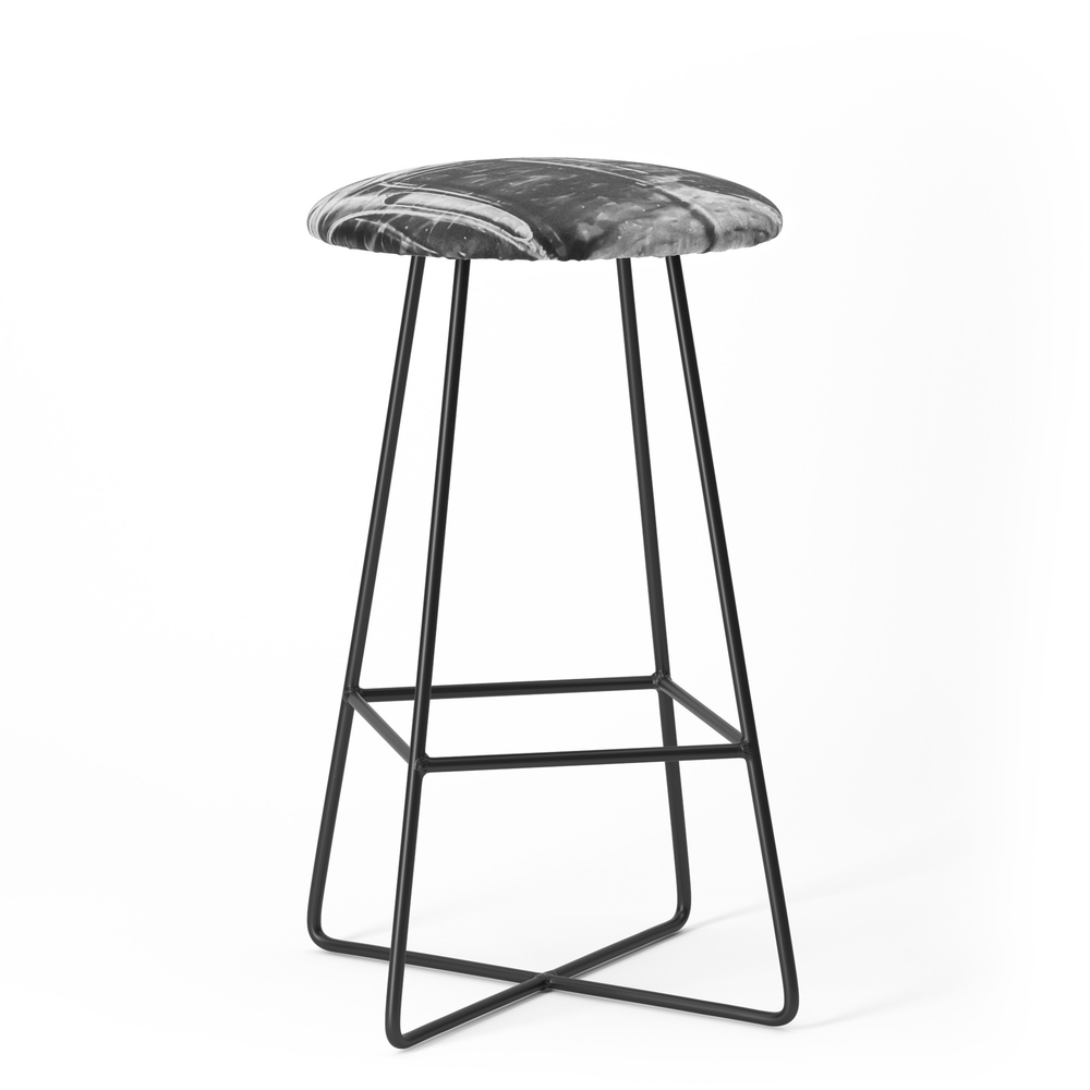 Outdoor Chairs In The City In Black And White Bar Stool by timla