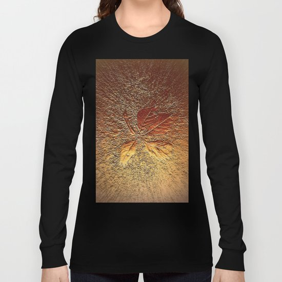 Rust glitter leaves in fall Long Sleeve T-shirt