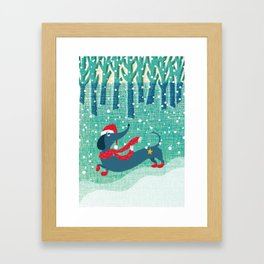 let it snow! Framed Art Print