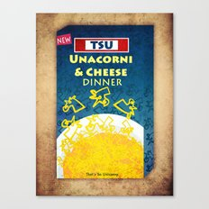 Unacorni and Cheese Canvas Print