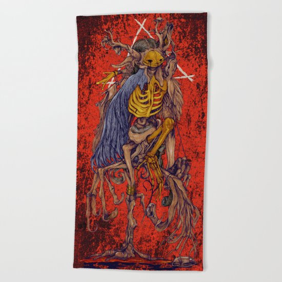 Adamant (hell) Beach Towel