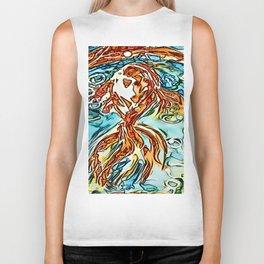 Bubbly Goldfish watercolor by CheyAnne Sexton Biker Tank