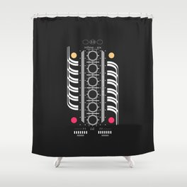 INLINE SIX Shower Curtain