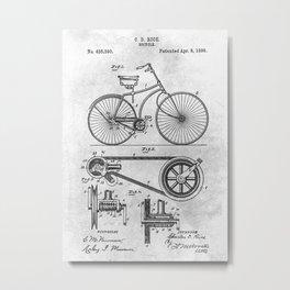 No005 1890 Bicycle Metal Print