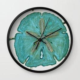 Sand Dollars Ocean Colors Wall Clock