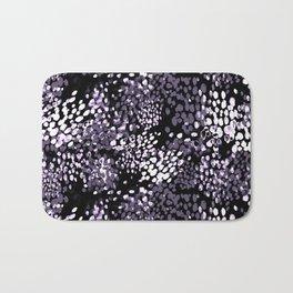 Dark purple watercolor dotted pattern Bath Mat