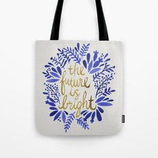 The Future is Bright – Navy & Gold Tote Bag