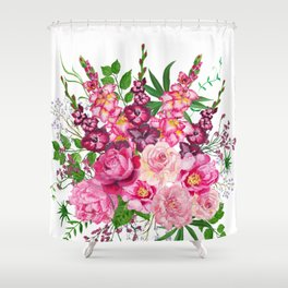 Gladioli and peonies Shower Curtain