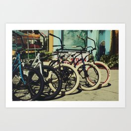 Bike Rentals Art Print
