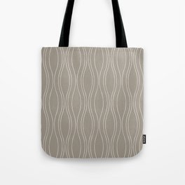 Gray Wood Tote Bag