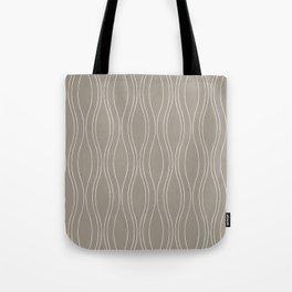 Gray Wood Tote Bag