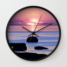 Saint-Lawrence River Sunset Wall Clock