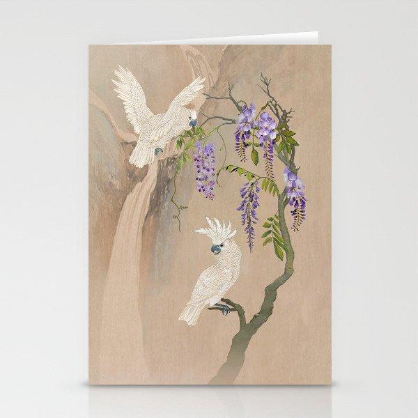 Cockatoos and Wisteria Stationery Cards