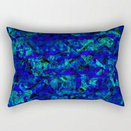 Vitrage (Blue) Rectangular Pillow