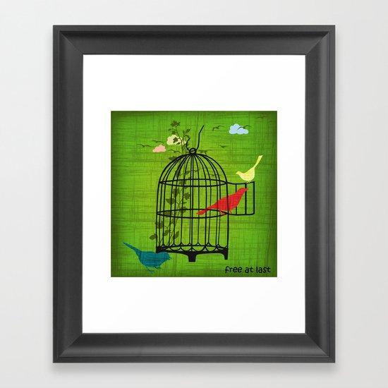 free at last Framed Art Print