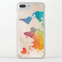 world map 21 Clear iPhone Case