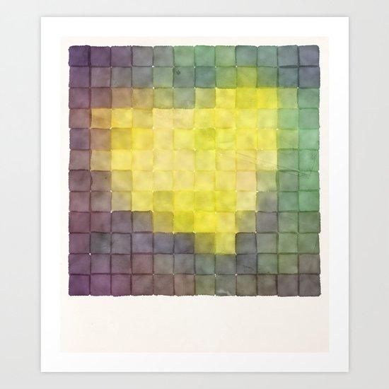 Polaroid Pixels V (Leaf heart) Art Print