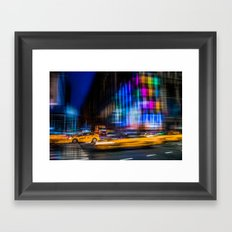 A colorful town Framed Art Print