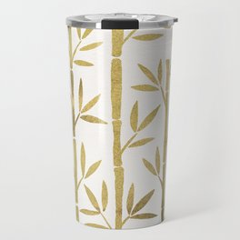 Bamboo Stems – Gold Palette Travel Mug