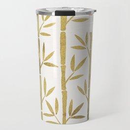 Bamboo Stems – Gold Palette Travel Mug