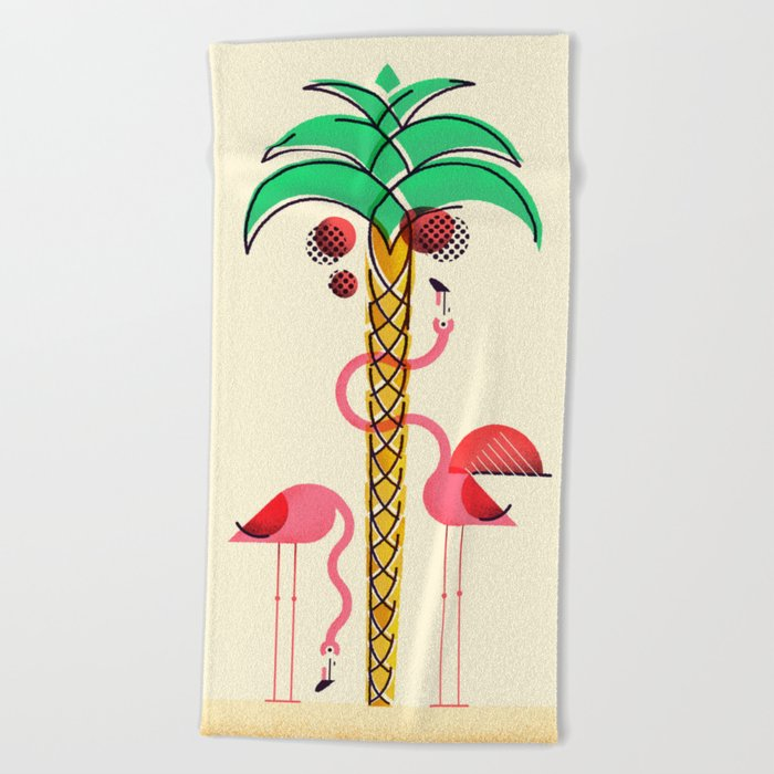 There are always coconuts for those who want to see them Beach Towel
