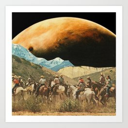 Riders on the slopes Art Print
