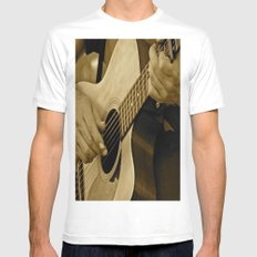 Play On MEDIUM Mens Fitted Tee White
