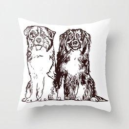 Australian Shepherd working dog for dog lovers Throw Pillow