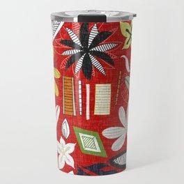 beachy red Travel Mug