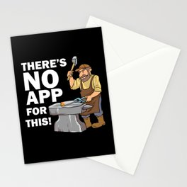 Blacksmith Design: There's No App For This I Steel Workshop Stationery Cards
