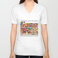 muppets V-neck T-shirts featuring The Periodic Table of the Muppets by Mike Boon