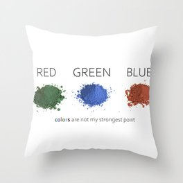 funny digital concept about colorblindness Throw Pillow