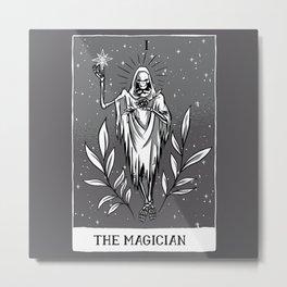 Dark Tarot Card The Magician  Metal Print