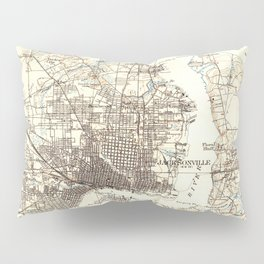 Vintage Map of Jacksonville Florida (1918) Pillow Sham