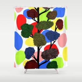 Happy tree Shower Curtain