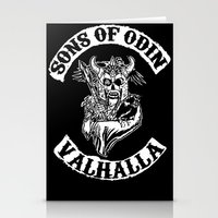 vikings Stationery Cards featuring Sons of Odin Vikings Inspired by vie3