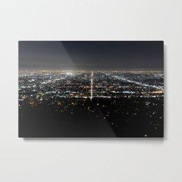 Los Angeles Skyline @ Night  Metal Print