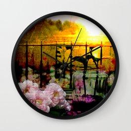 Sunset Balcony Wall Clock