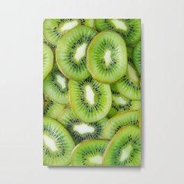 Kiwi Fruit Slices Metal Print