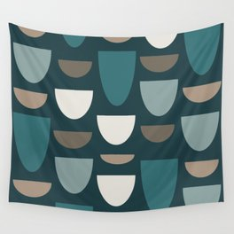 Turquoise Bowls Wall Tapestry