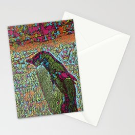 Abstract Penguin Stationery Cards