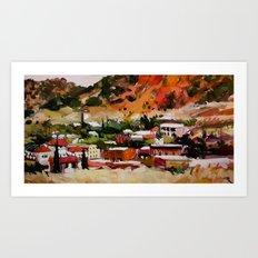 Bisbee, Arizona Landscape Painting Art Print